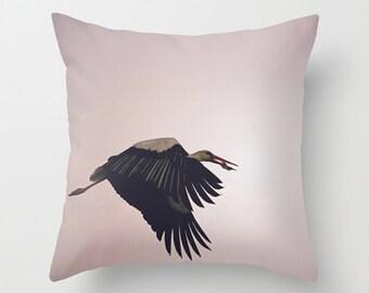 Bird cushion, bird pillow, pink pillow, pink cushion, pink home decor, throw pillow, throw cushion, pillow cover, bird decor, photo cushion