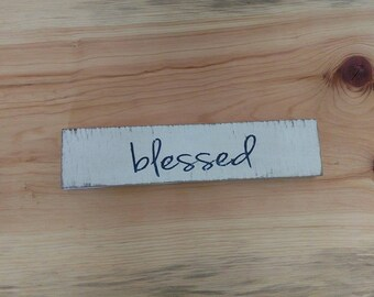 Blessed hand painted rustic pallet wood sign
