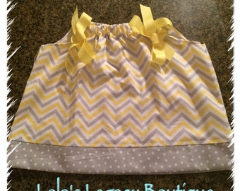 Ready to Ship! - The Melissa Pillowcase Dress - SIZE 12 MONTHS