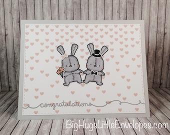 Bunny Bride and Groom Congrats