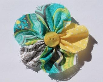 Fabric Flower Clip