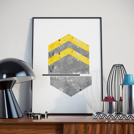 Wall Art Graphic Design : Abstract arrows geometric wall art minimalist modern