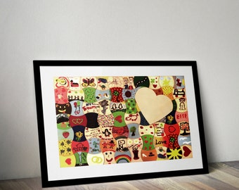 Puzzle-Guestbook With Heart