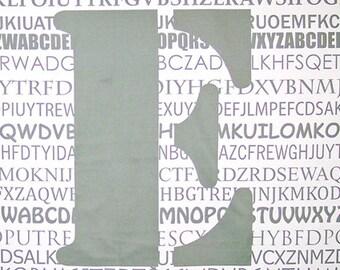 """Gray """"E"""" Fabric Panel"""