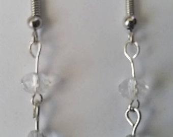 Clear bead earrings