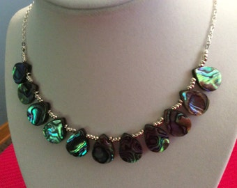 Abalone Necklace and Earring Set