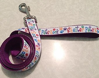 Shelter Pets Rock-- Dog Leash