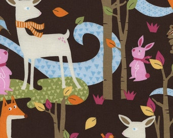 Woodland Scene Standard Crib Sheet-Fitted-Gender Neutral-Toddler Bed Sheet-Baby Bedding-Woodland Scenes Fawn-Brown