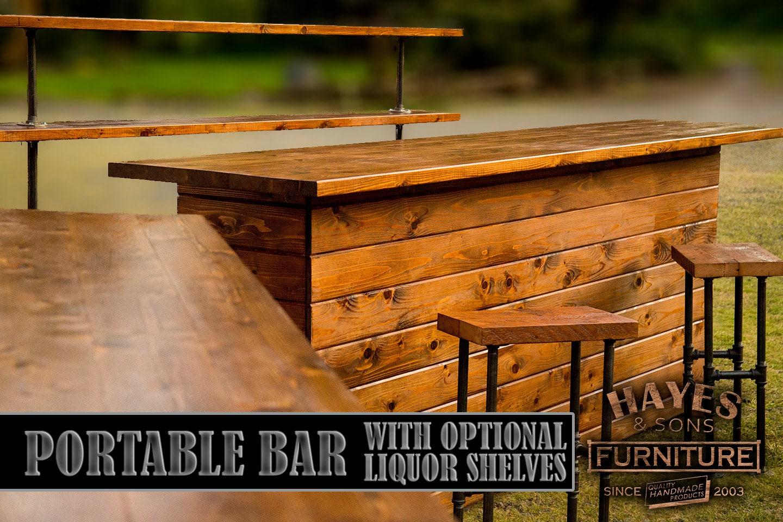 Cedar Portable Outdoor Bar NEW DIMENSIONS on Portable Backyard Bar id=12082