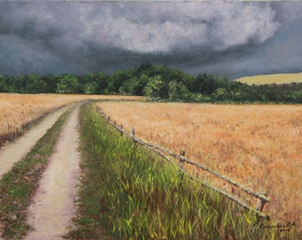 "Approaching Storm / Наближається гроза - painting, oil on canvas, 30 x 40 cm / 11.8"" x 15.7"""