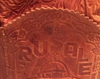 Leather Bag From Jerusalem