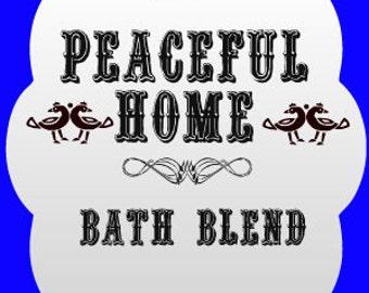 Peaceful Home Southern Folk Magic Bath Blend, Hoodoo Peaceful Home Bath Salts, Voodoo Peaceful Home Bath Salts, Peaceful Home Bath Blend