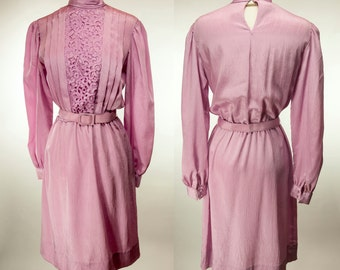 In The Mood ~ 80s ~ Pale Pink Secretary Dress ~ Size 6