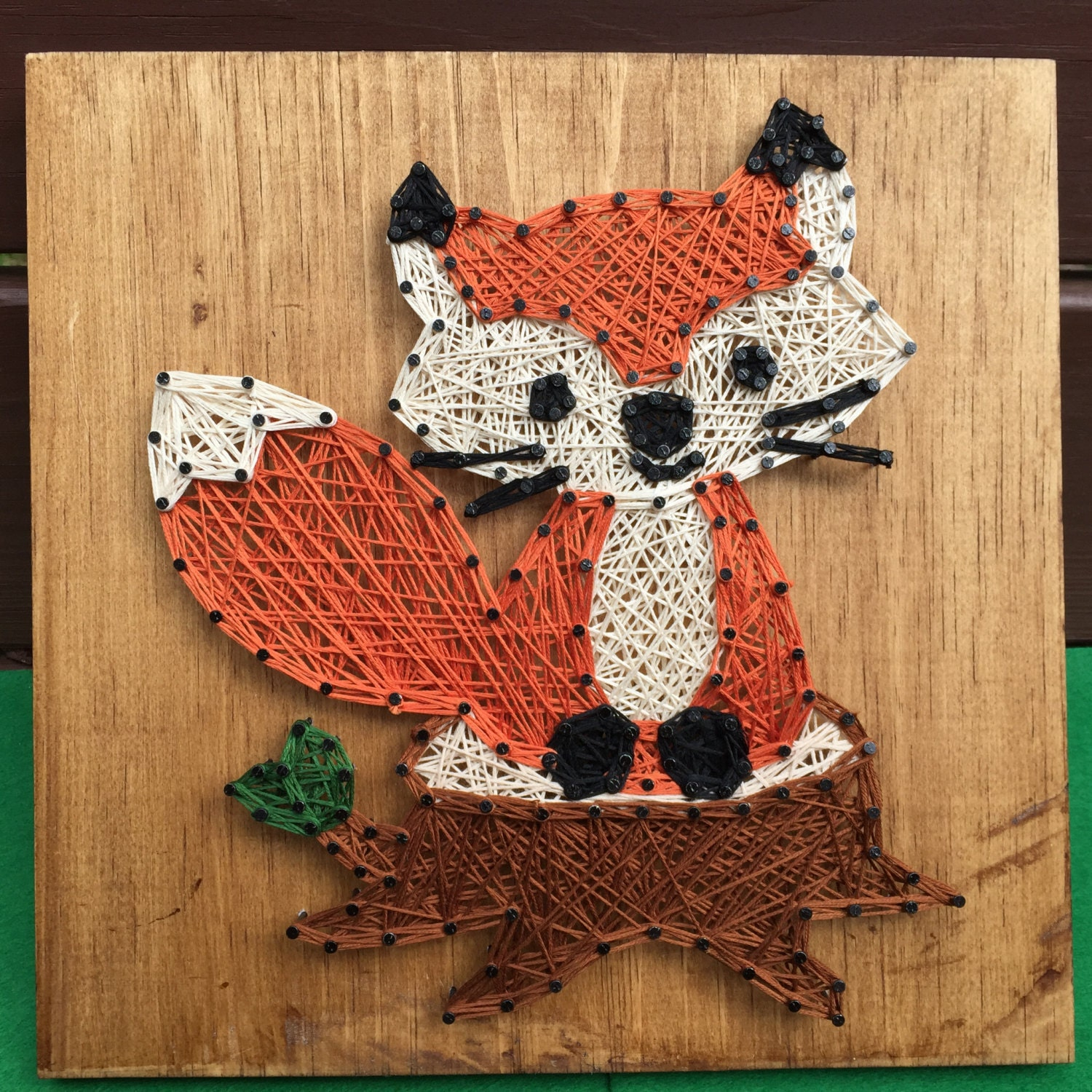 Little Fox String Art Woodland Animal Decor Made To Order