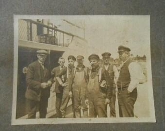 Vintage Original Photo Steamship Workers Crew