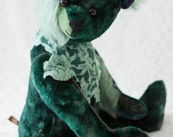 Bekkiebears Emmeth artist teddy bear mohair