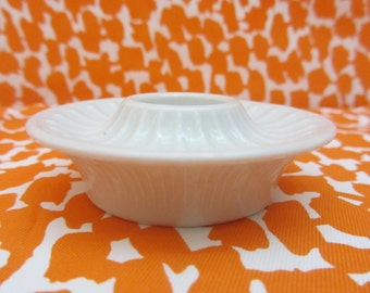 PLA - Big Candle Holder in white porcelain - Made in Denmark - 1970s