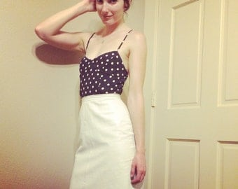White Leather Pencil Skirt!!!!