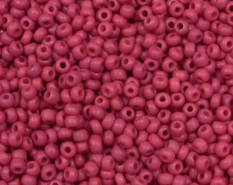 Czech 11o #BL1110 dyed opaque raspberry red 250g