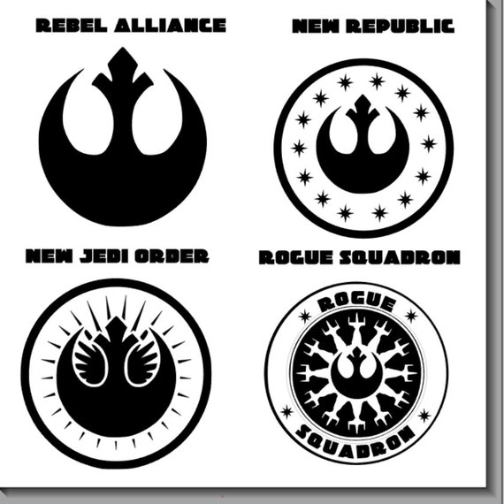 star wars logos and symbols vinyl decals by