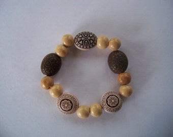 Circles of Life wooden bracelet