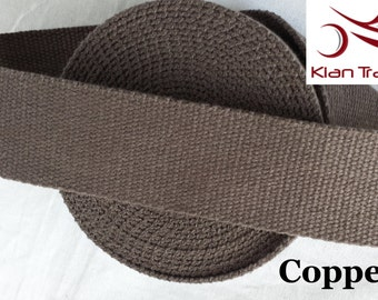 Cotton Heavy Canvas webbing in 38 mm 1.5 Inch width for hand bag belting Tapes - Copper color