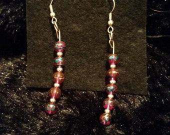 Pink confetti Earrings