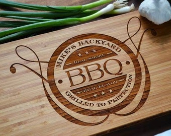 Personalised BBQ Style Chopping Board – rectangle 32.5cm
