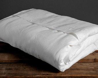 Linen Bed Duvet Cover, Linen Bedding, Linen Duvet, Natural Linen Bed Duvet Cover, Organic White Linen Duvet Cover