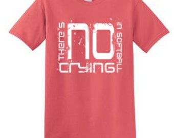 There's No Crying in Softball Youth Shirt