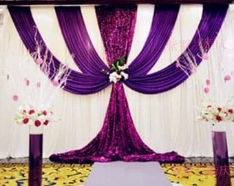 3m x 6m wedding backdrop sequn curtain for event backdrop.Color and Size can be customized