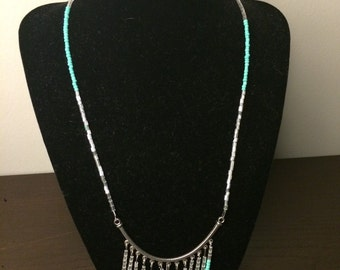 Turquoise chandelier necklace