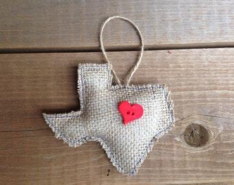 Texas Decoration in Burlap