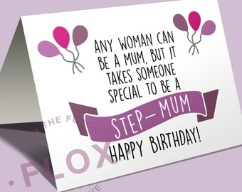 Any woman can be a mum but it takes someone special to be a step-mum PDF JPEG card printable downloadable family celebrate gift adopt 175