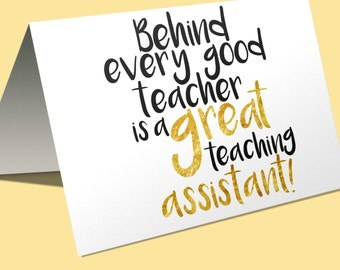 Behind every good teacher is a great teaching assistant Tote
