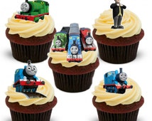 17 Stand Up Thomas The Tank Engine Themed Edible Wafer Paper Cake Cupcake Toppers