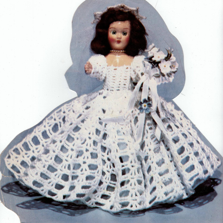 Baby Turtle Amigurumi Pattern : PATTERN Brides dress me doll crochet pattern 1951 vintage