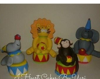 Circus/Carnival Fondant Figures