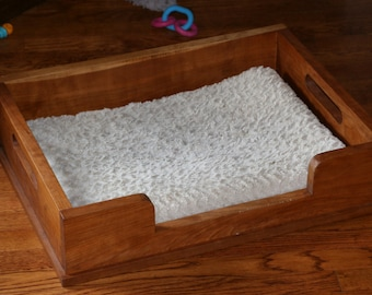 Beautiful Cherry Dog Beds - Who wants a plastic bed in their beautiful home