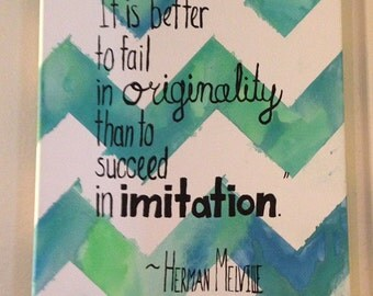 Watercolor Background Quote Canvas