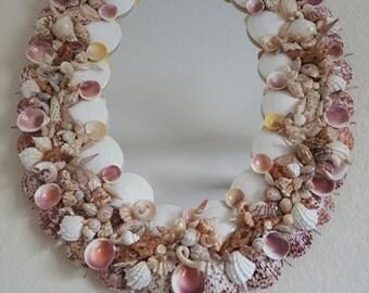 SeaShell Decor, Beach art , SeaShell Art, Seashell Mirrors, SeashellmHome Decor, Nautical,