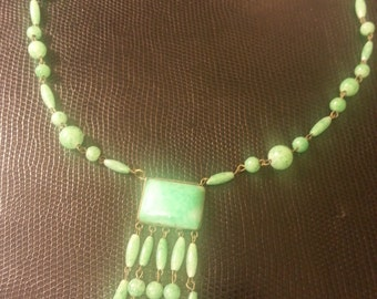 Vintage Verigated Turquoise Necklace