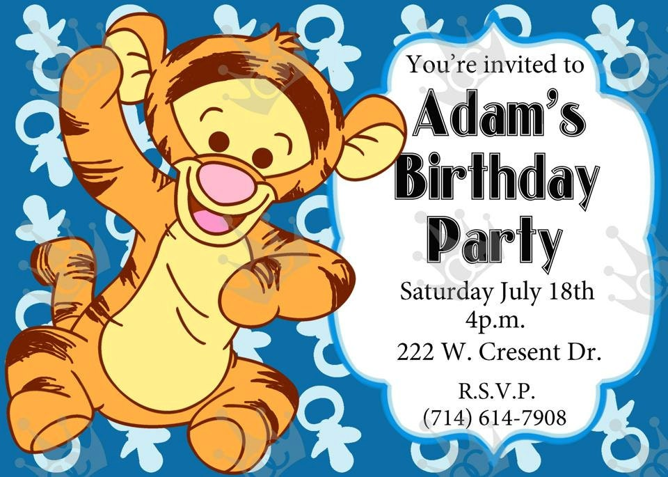 Baby tiger birthday party invitation print home diy in zoom filmwisefo