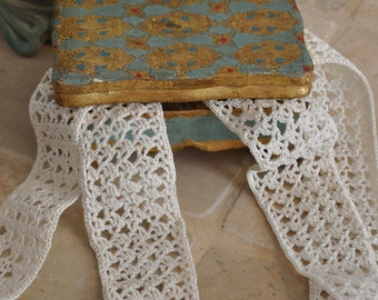 Handmade French Lace, Antique Lace, Bridal Lace, Wedding Lace, Sewing Notions, Hatmaking, Lace, French Lace, Handmade Lace, Made in France