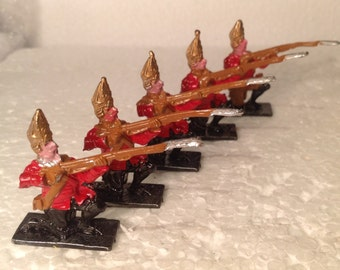 5 old home cast semi flat soldiers