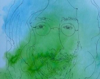 John Lennon,John Lennon art, Drawing of John Lennon