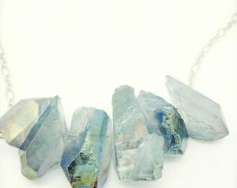 Elia, light blue quartz crystals