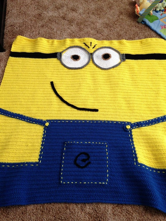 Crochet Pattern For Minion Blanket : Crochet Minion Baby Blanket Pattern