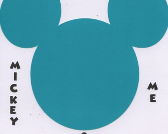 8x8 Premade Mickey Mouse  & Me Disney Scrapbook Page