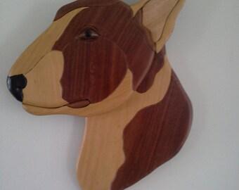 Australian Timber Intarsia Bull Terrier